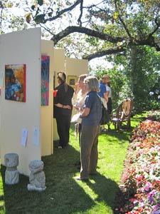 Crowd enjoying art at Laguna Art and Garden Gala